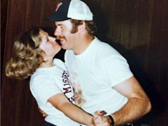 Bruce Arians and his wife dancing during his time as a coach at Mississippi State, circa 1979.