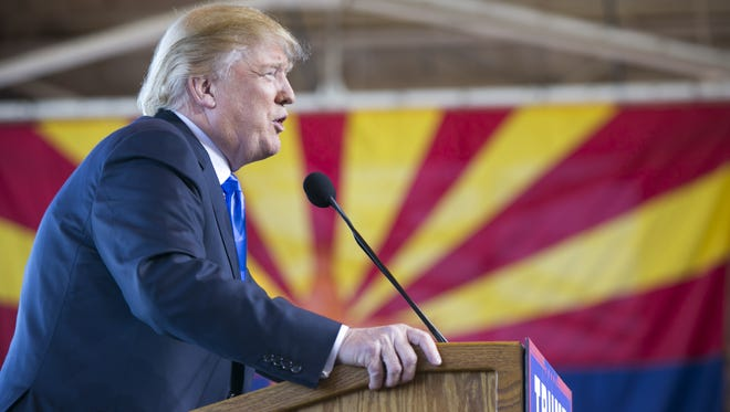 President Donald Trump's trip to Arizona on Tuesday will be his first visit to the state as president.