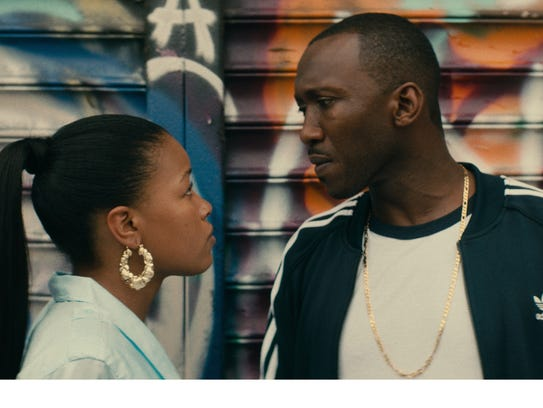 Chante  Adams and Mahershala Ali in a scene from Netflix's