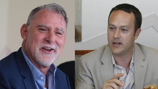 J.R. Roberts, left, and incumbent Paul Lewin are separated by 20 votes following the Nov. 3, 2015, election. The next numbers will roll in Friday at 6 p.m.
