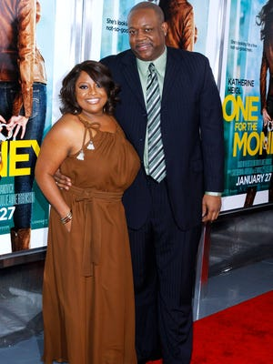 """Sherri Shepherd and Lamar 'Sal' Sally attend the """"One for the Money"""" premiere at the AMC Loews Lincoln Square on January 24, 2012 in New York City."""