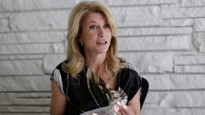 Wendy Davis, Democratic candidate for governor of Texas.