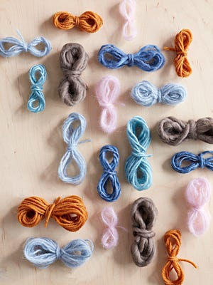 How organized! Finally, a great way to keep your yarn scraps from getting too messy.