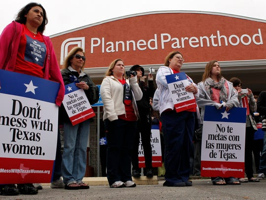 Residents and employees of the Planned Parenthood clinic