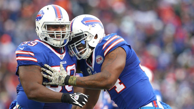 Marcell Dareus, left, and Mario Williams during a game earlier this year against the Chiefs.