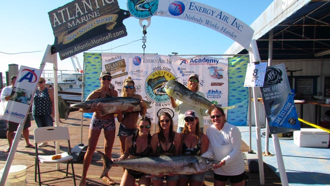The winning Lady Angler team from 2019.
