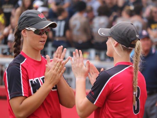 Lakota West shortstop Allie Cummins and pitcher Jenna