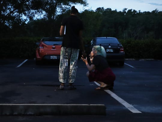 After an argument that upsets their dinner plans, lovers Lucy Tapia and Ana Nokicki make up in the parking lot of a Fort Myers restaurant. Although they have talked about getting clean, the ups and downs of their relationship are making it difficult for them to commit to treatment.