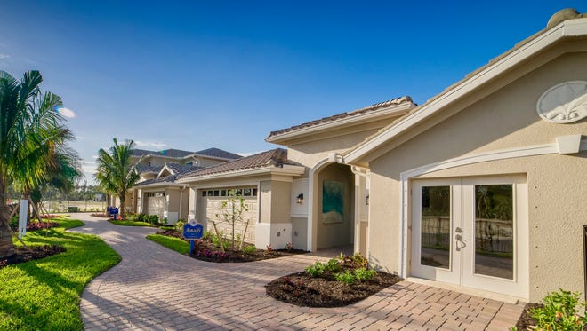 Four custom estate villa models are open daily at Venetian Pointe, a Zuckerman Homes' community in south Fort Myers.