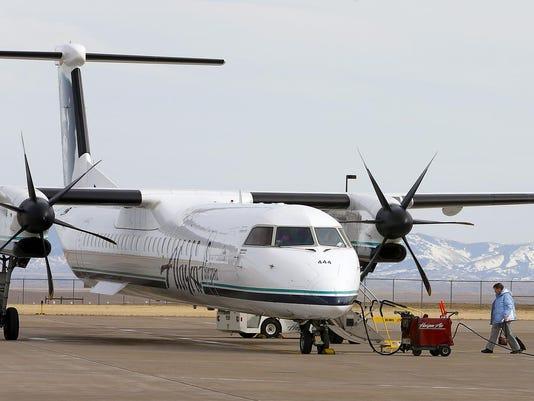 1 boarding Alaska Airlines flight