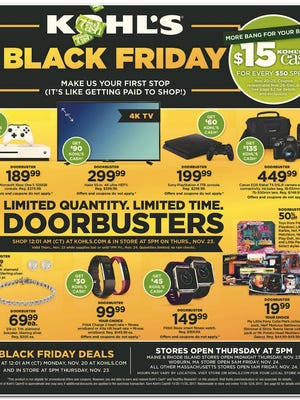 The scan of the Kohl's Black Friday ad obtained by BestBlackFriday.com