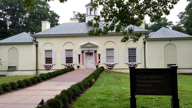 Washington's Headquarters Musuem sits behind the Fords Mansion in Morristown.
