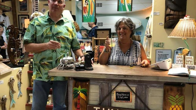 Glen and Lisa Hoyer are keeping their store Pleasure Tiki open as long as possible, offering retail therapy and a personal connection at 6-feet. Courtesy Pleasure Tiki.