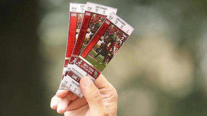 University of Alabama football tickets.