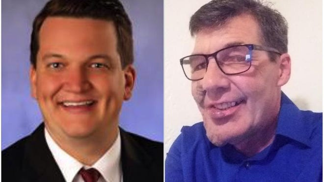 State Rep. Andrew Chesney, right, a Republican, is being challenged by John Cook, an Independent, to represent the 89th District in the Illinois House.