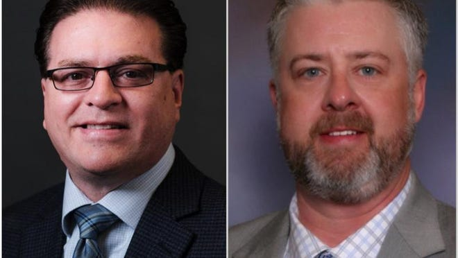 Rockford Alderman Joe Chiarelli, left, a Republican, and Winnebago County Board member Burt Gerl, a Democrat, are vying for the Winnebago County Board chairman's seat on Nov. 3. Chiarelli is quarantining at home because of potential exposure to the coronavirus.