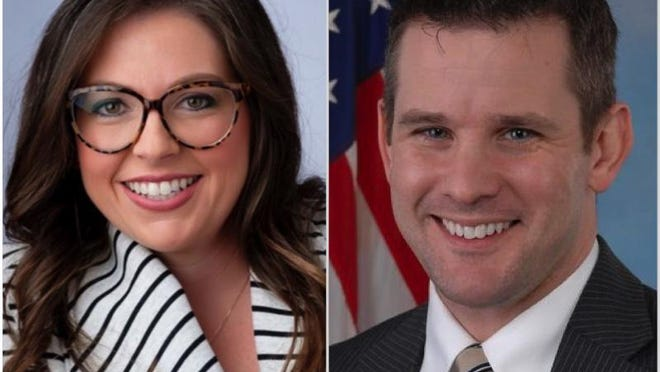 Dani Brzozowski, left, is a Democrat challenging Congressman Adam Kinzinger, R-Channahon, for his 16th Congressional District seat.