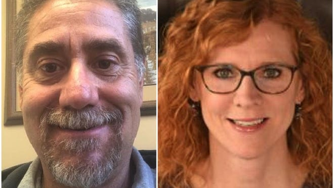 Brad Lindmark, left, a Republican, and Elizabeth Lindquist, a Democrat, are vying to represent District 4 on the Winnebago County Board.