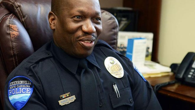 Hendersonville Police Chief Herbert Blake, shown here in this file photo, outlined several measures during a City Council meeting Thursday that he takes to prioritize relationships and discourage violence in his department.