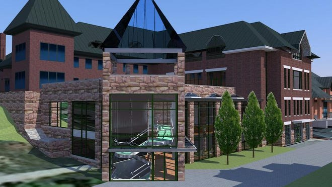An artist's rendering of the planned Center for Communications and Creative Media at Champlain College.