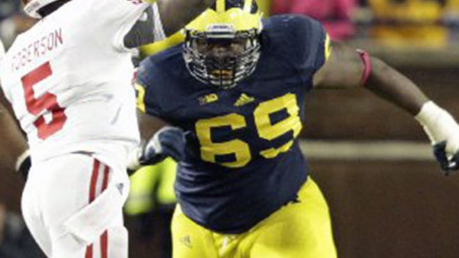 Michigan defensive tackle Willie Henry