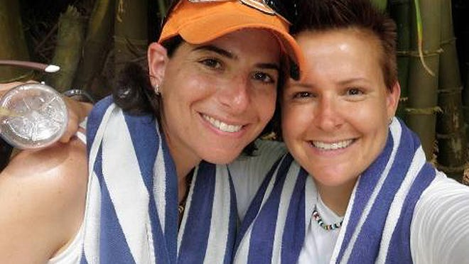 Amy Sandler, left, and Niki Quasney joined a lawsuit to over turn Indiana's ban on same-sex marraige. | Photo provided