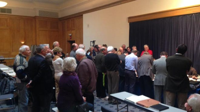 About 40 Norton Commons residents and other stakeholders attended a Land Development and Transportation Committee meeting Feb. 13 at Memorial Auditorium, hoping plans for a neighboring apartment complex would be further delayed.