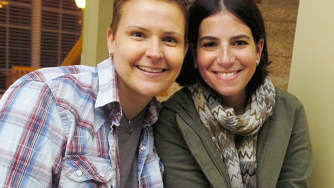 Amy Sandler, right, and her wife, Niki Quasney, won their case in a federal appeals court. Quasney is dying of cancer.
