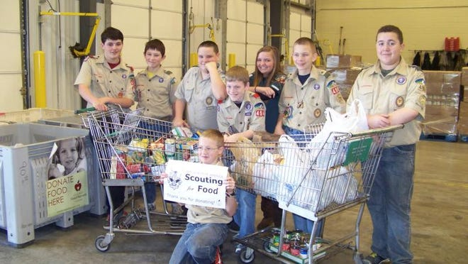 Boy Scouts are collecting nonperishable food items through the month of March. Scouting for Food   collected nearly 17,000 pounds of food items last year.