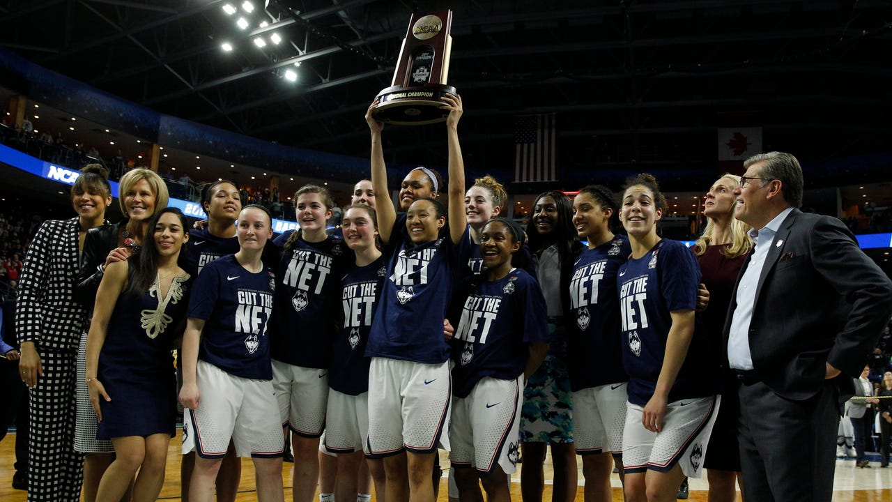 Connecticut is back in the Final Four for the 10th straight year. Georgetown senior forward Faith Woodard breaks down what makes the Huskies so dominant.