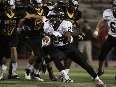 Phil Campbell (24) rushed for 31 yards and a touchdown as South Brunswick beat East Brunswick on Friday.