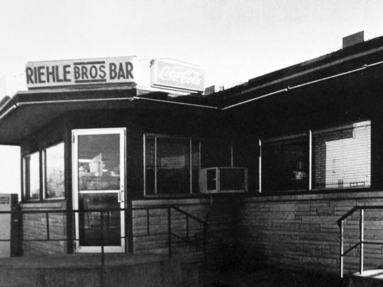 Riehle Brothers Tavern, owned by members of the Riehle family from 1940 until 1977, stood along Schuyler Avenue.