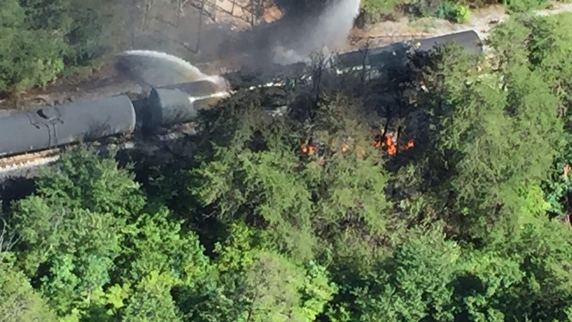 A train car that derailed early Thursday morning is
