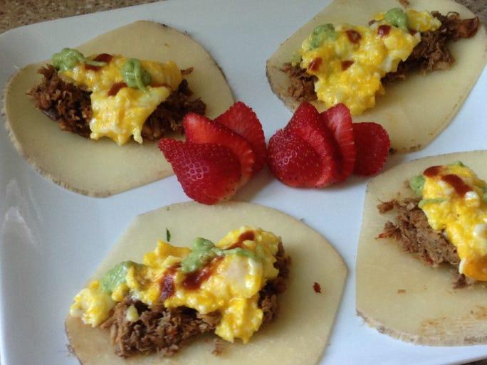 Caveman Truck: Chicken Breakfast Tacos
