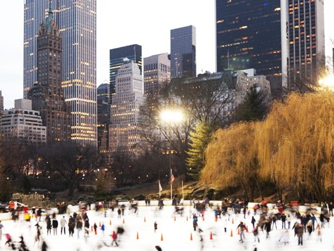 From train shows to ice skating to Radio City's famous Rockettes, here's how to enjoy the most wonderful time of the year in the Big Apple. When the mercury drops, a handful of parks and outdoor dining venues transform into ice rinks. Head to Rockefeller Center for a quintessential New York skate session; the tree will remain lit until Jan. 7, 2014. Bryant Park's Winter Village provides unrivaled Midtown skyline views, but if you're looking for some suds after skating, head to the Standard High Line rink in the Meatpacking District. Families should check out Central Park's Wollman Rink; it offers youth figure and synchronized skating classes.