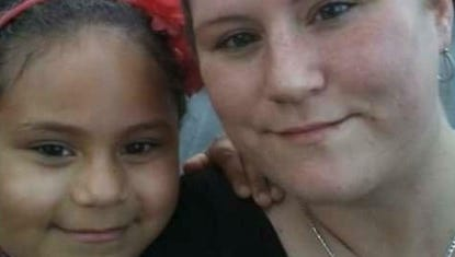 Neveah Alston and her mother