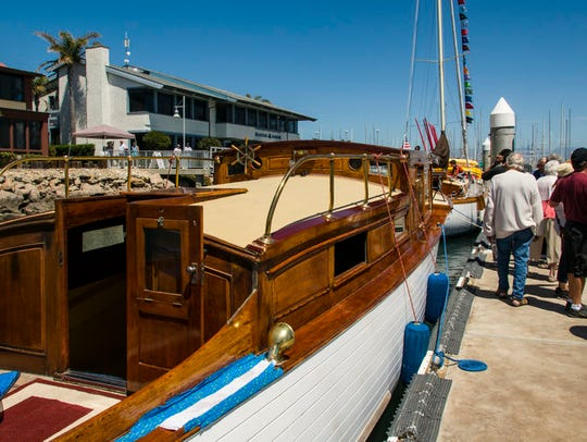 Muggs, a 38-foot wooden boat owned by Graham and June