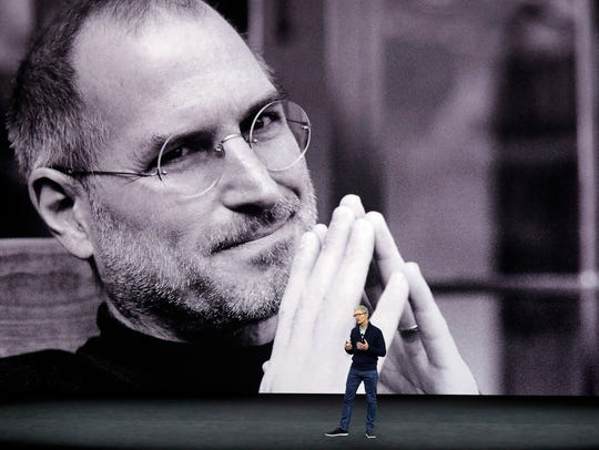A photo of Apple co-founder and former CEO Steve Jobs