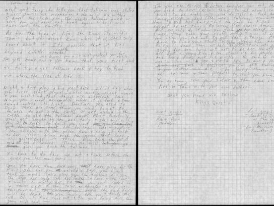 """""""Many of the items in our donation … were never intended to be seen. For instance, Roberta has always kept secret her design documents for the King's Quest series. These thick documents, with all of her hand-written notes, have sat on her desk for nearly twenty years.""""--Ken Williams (Courtesy of The Strong, Rochester, New York)"""