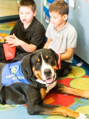 Skye takes a tour of a Haleyville-Mauricetown Elementary