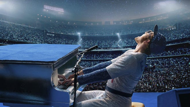 "Taron Egerton portrays Elton John in ""Rocketman,"" one of only two of the top-grossing movies of 2019 to depict queer lead or co-lead characters."