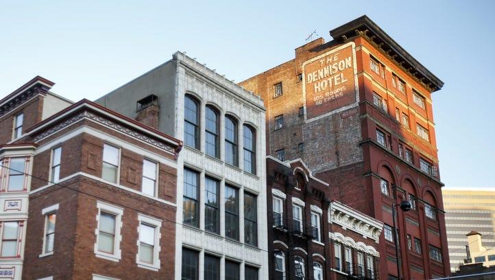 The Dennison Hotel building in downtown Cincinnati.