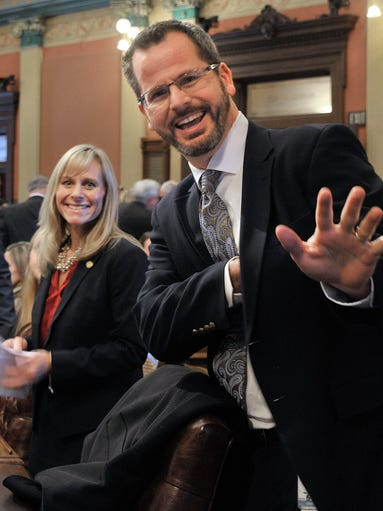 Rep. Cindy Gamrat, R-Plainwell, and Rep. Todd Courser,