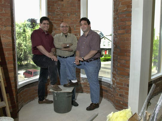 May 30, 2000: Standing in the windows of the old Rio Bamba that was undergoing a major facelift were: Jay Cohen, Jerry Vorrassi and Jerry Serafine They were partners in area restaurants.