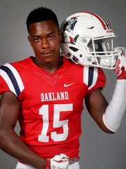 Oakland's Jeron Rooks is a finalist for the DNJ's All-Area Football Player of the Year award.