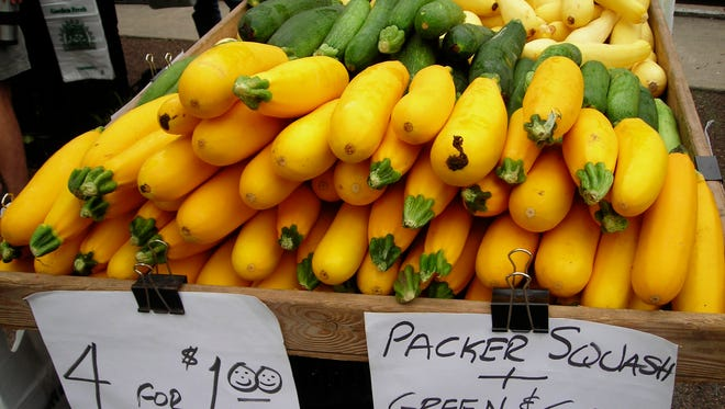 Some farmers markets sell grocery store vegetables. Know what's in season before you shop.