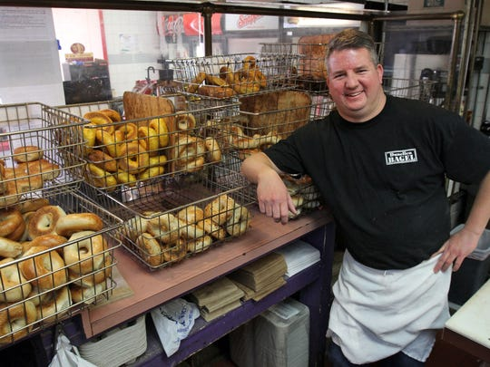 """Jeff Portik, pictured, owns Dunellen Bagel with his brother Douglass. Dunellen Bagel was part of the """"Best bagels in Central Jersey"""" Courier News poll."""