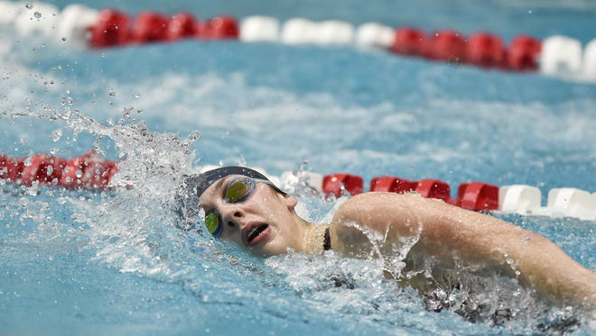 Eastern York's Madison Nalls enters her senior season having committed to the University of Pittsburgh. Here, she swims the 200-yard freestyle for a second-place finish in the District 3 Class 2A girls swimming championships last season.