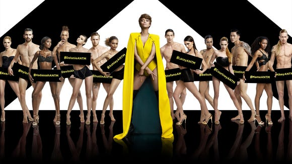 "The cast of this season's ""America's Next Top Model,"" hosted by Tyra Banks."