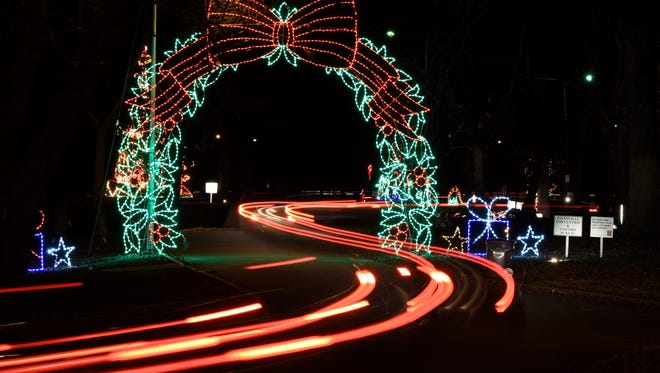 Visitors brake lights make a winding trail in this time exposure of the Ritzy's Fantasy of Lights last year.